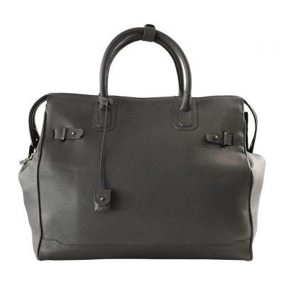 sac de voyage 48h taurillon gris
