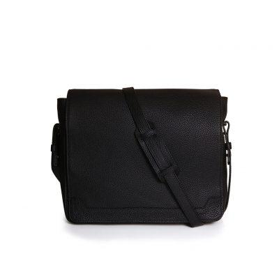 sac messenger taurillon noir