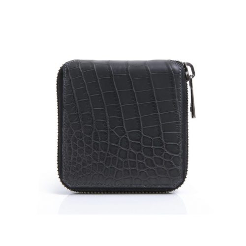 "Wallet ""BTZ"" zipped in Crocodile Niloticus"
