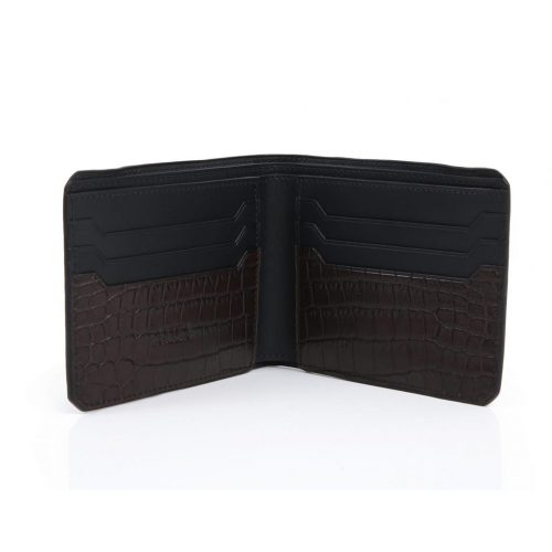 Wallet with 6 credit cards in Crocodile Niloticus