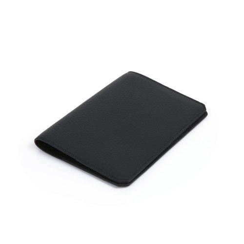 Protège Passeport en Taurillon Noir