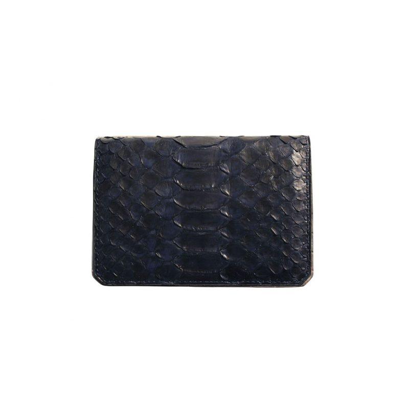 porte carte de visite python bleu
