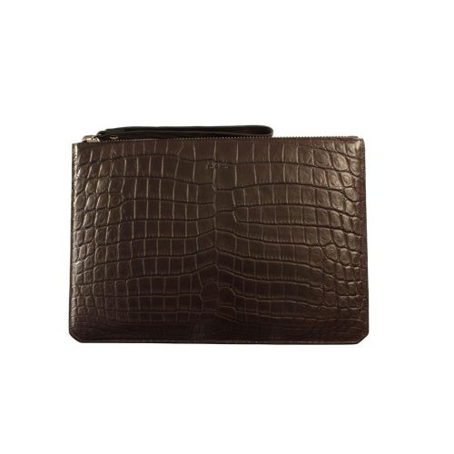 Pochette en Alligator