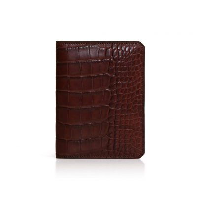 id wallet alligator marron