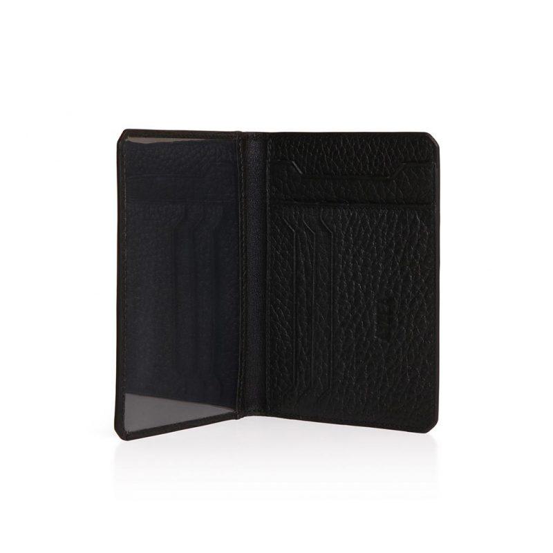id wallet taurillon noir