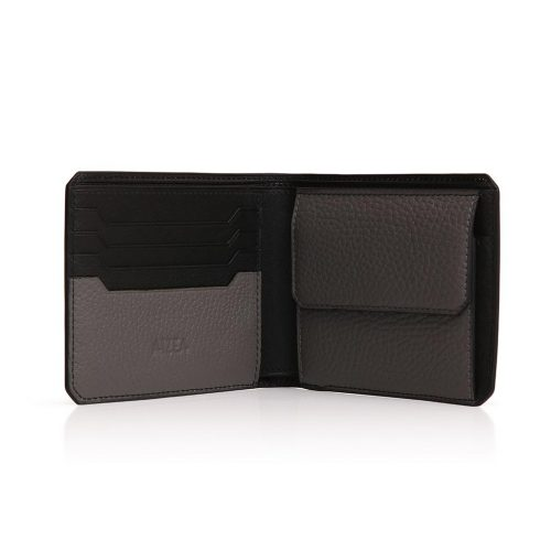 Wallet 4cc with Coin Case in taurillon