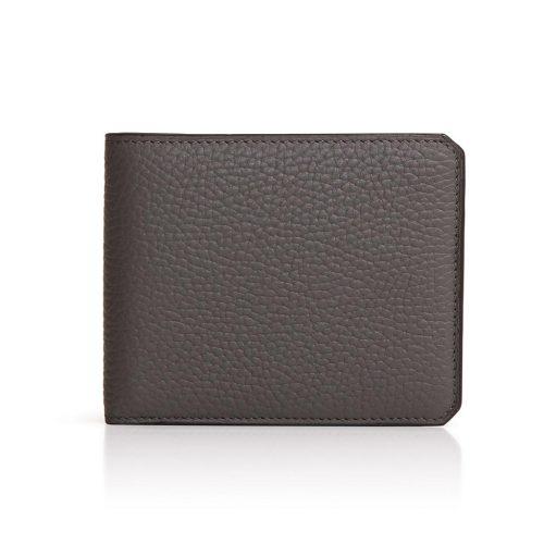 Portefeuille en cuir de Taurillon avec rabat 4 cc et porte-monnaie