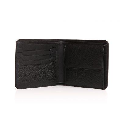 Portefeuille 4cc et monnaie taurillon noir