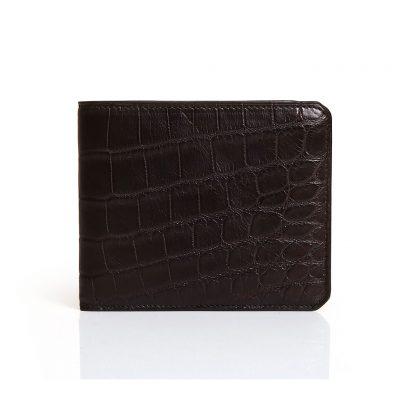 portefeuille 8cc alligator marron