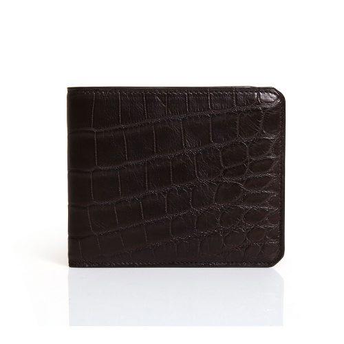 Wallet with 8 credit cards in Alligator