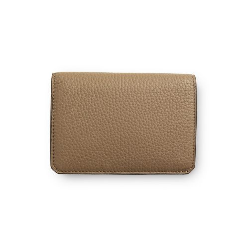 Portefeuille compact avec porte monnaie en Taurillon