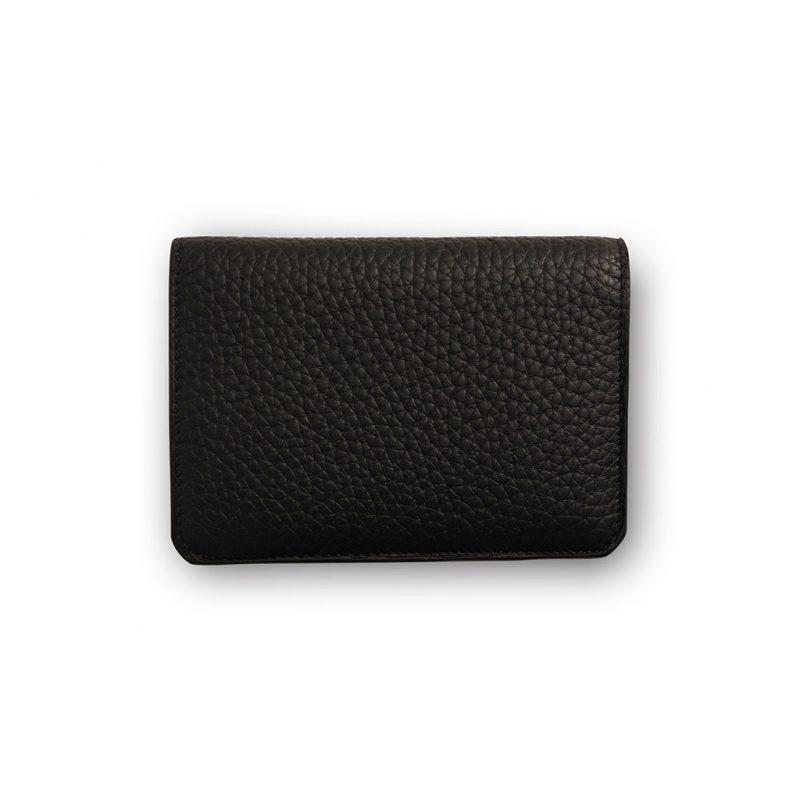 portefeuille compact taurillon noir