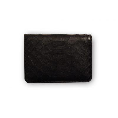 portefeuille compact python noir