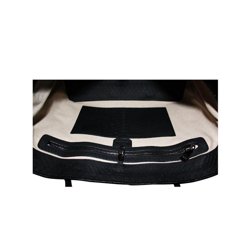 sac cabas python noir