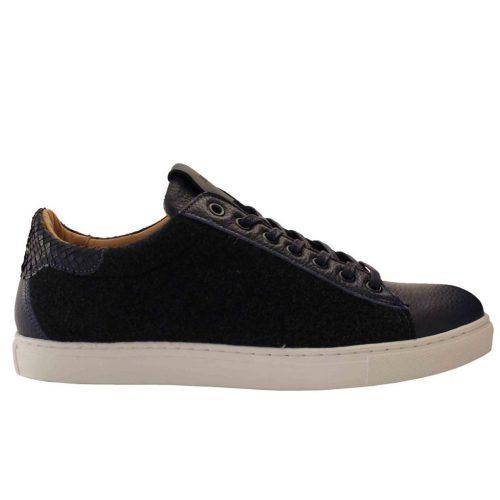 Sneakers en Flanelle et Taurillon