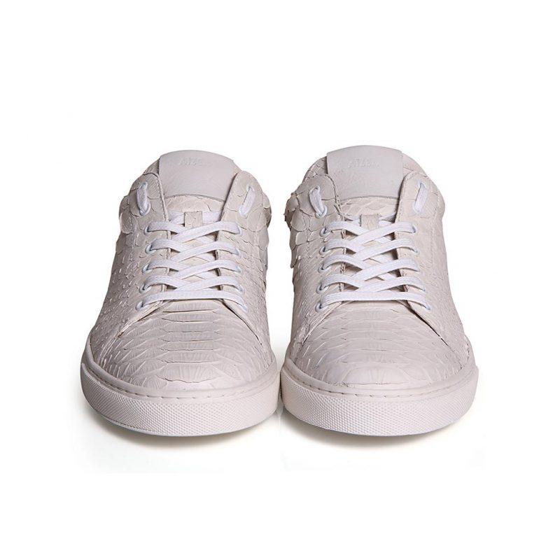 sneakers python blanc