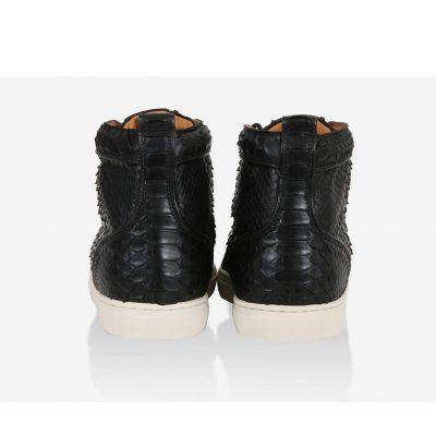 sneakers hautes python noir