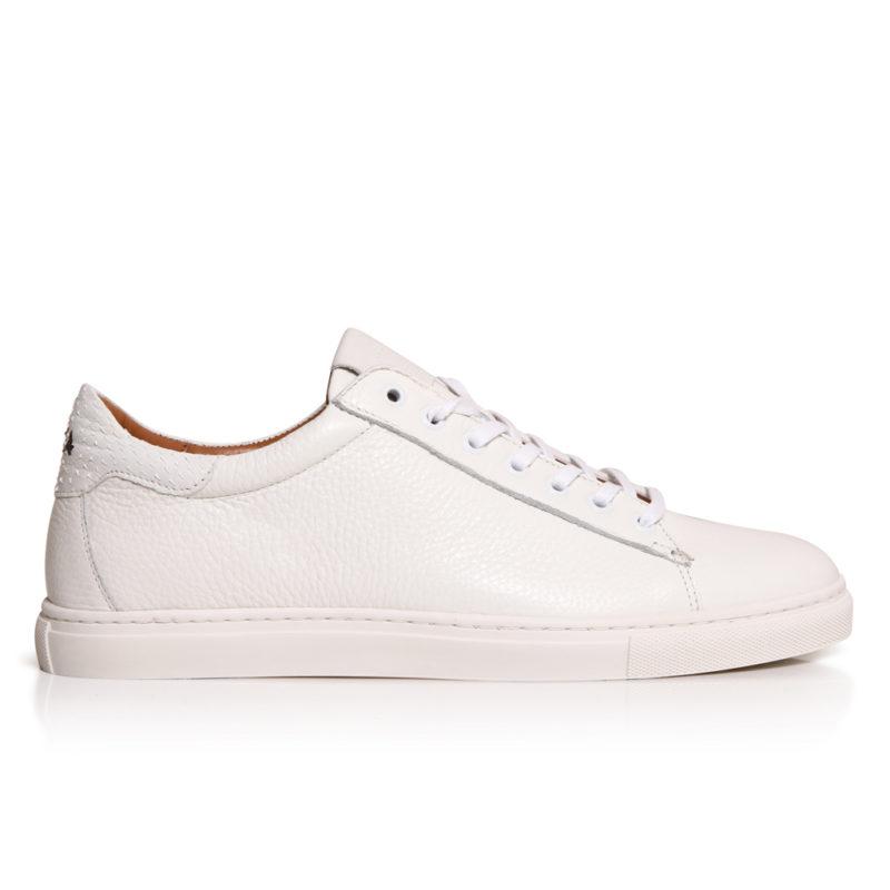 sneakers taurillon blanc