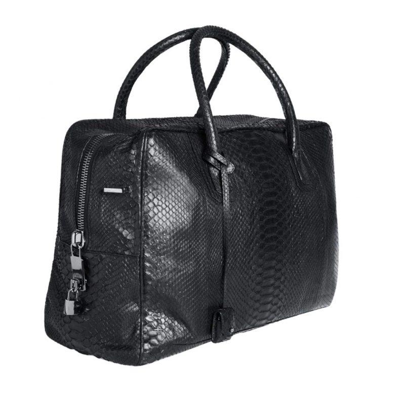 sac de voyage donibane en python noir