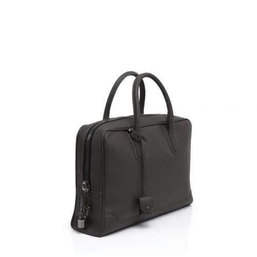 Slim Briefcase 8 cm en Taurillon