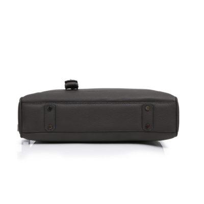 Slim briefcase taurillon gris