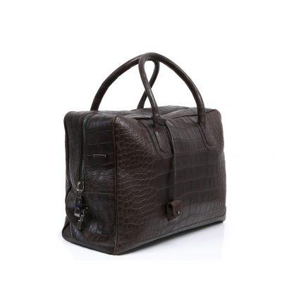 sac de voyage donibane en alligator marron
