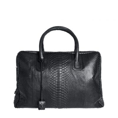 sac de voyage python noir