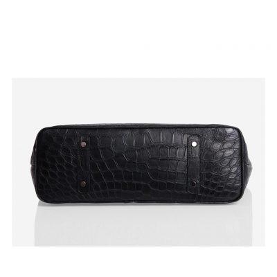 sac cabas alligator noir