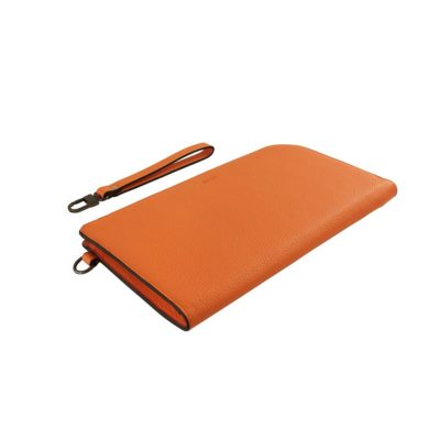 pochette daisuke taurillon orange