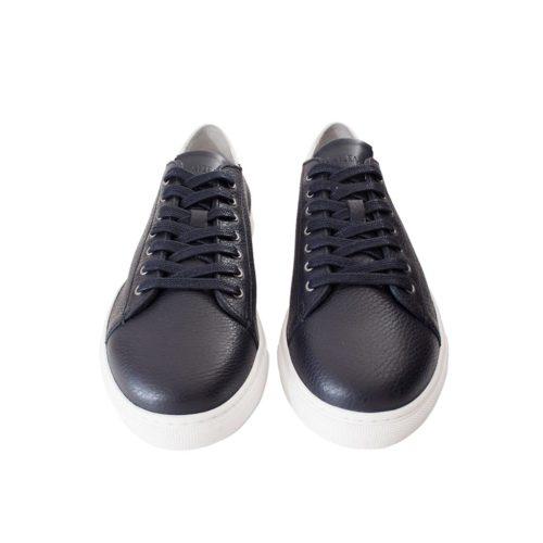 Sneakers JON en cuir de Taurillon semi-doublées