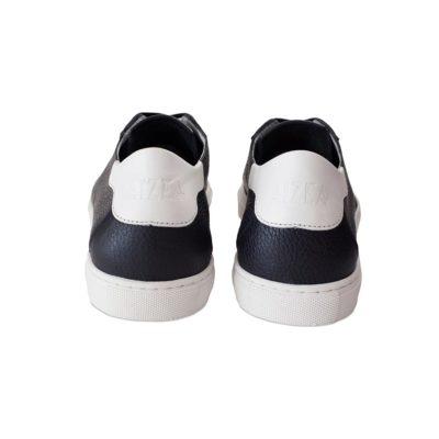 sneakers semi-doublées taurillon marine