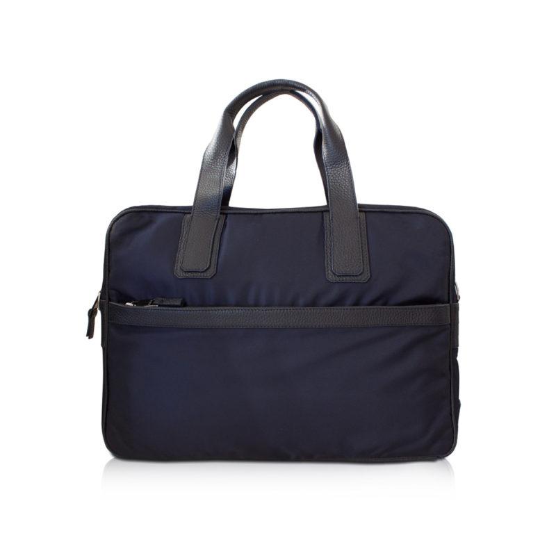 briefcase nylon et taurillon marine