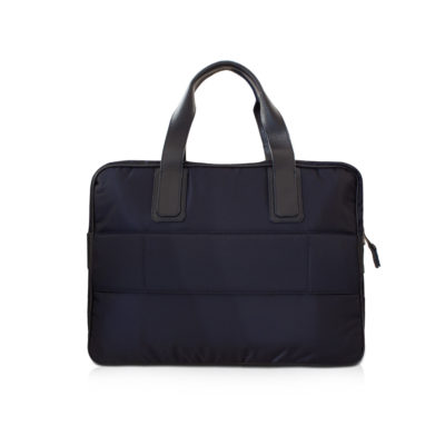 simple briefcase nylon et taurillon marine