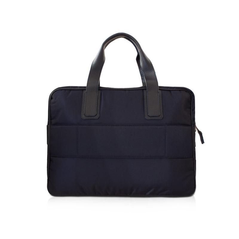 simple briefcase nylon et taurillon marine