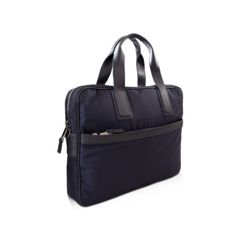 Simple Briefcase – Nylon & Taurillon
