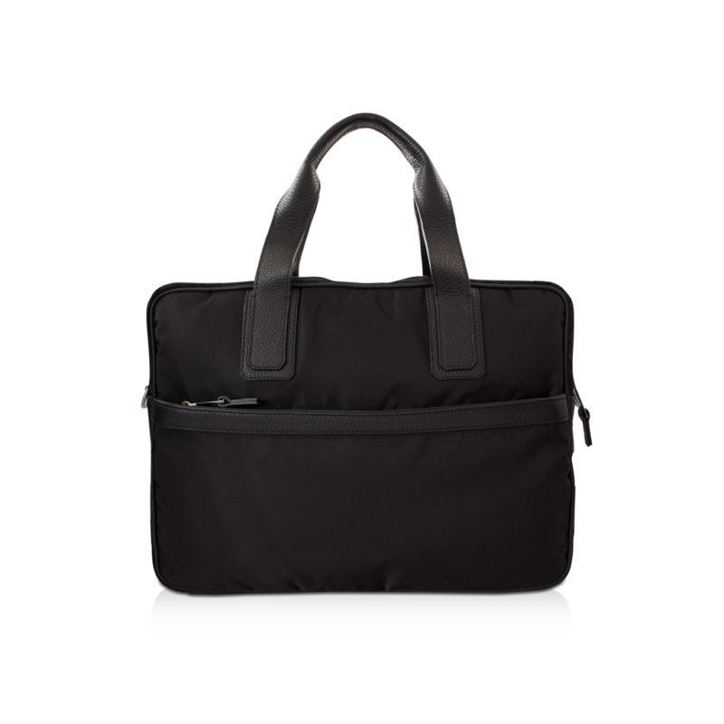 simple briefcase nylon et taurillon noir