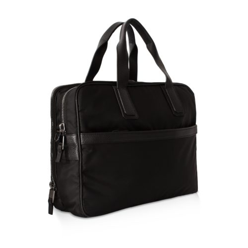 Double Briefcase – Nylon & Taurillon