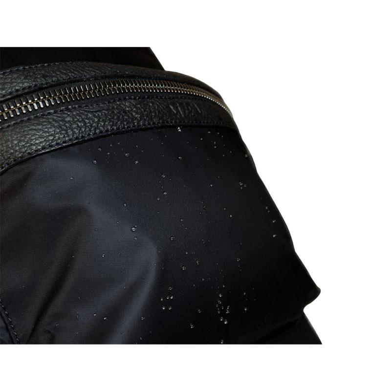 sac à dos nylon et taurillon noir