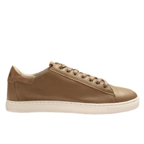 Sneakers HEGOA en cuir de Taurillon semi-doublées