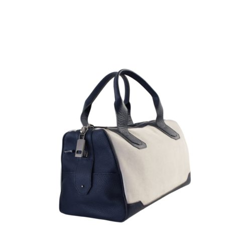Travel Bag 45cm in Suede & Taurillon Navy Blue