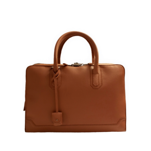 Slim Briefcase 8cm double zip en Taurillon
