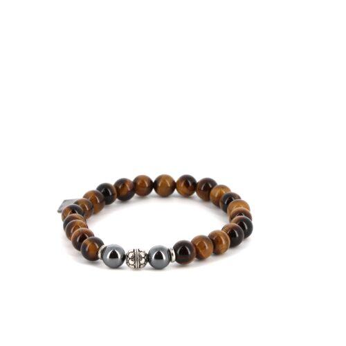 Bracelet élastique en Oeil de Tigre 8mm