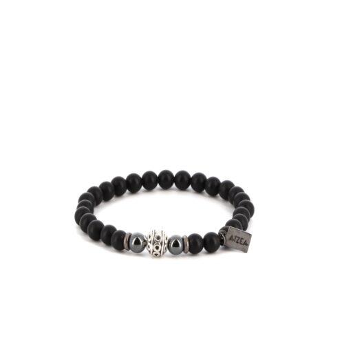 Bracelet élastique en Onyx mat 8mm