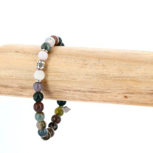 Bracelet élastique en Agate 8mm